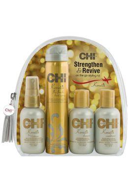 CHI Keratin Strengthen & Revive Travel Pack